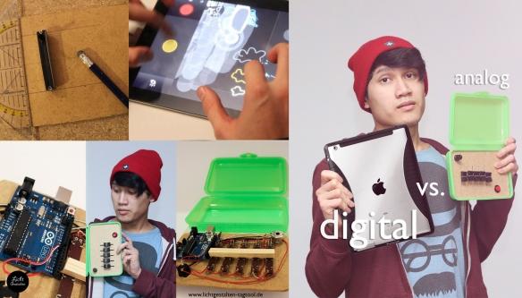 digital vs analog collage