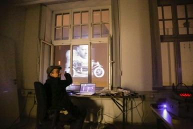 Letzer Bild- und Soundcheck mit Peter Eisold