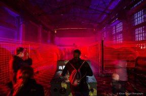 Extraschicht Besucher steuern die Laser
