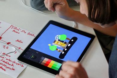 Geschichten werden auf dem Ipad erstellt
